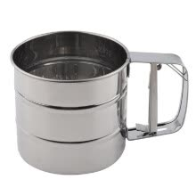 -Stainless Steel Mesh Flour Sifter Mechanical Baking Icing Sugar Shaker Sieve Cup on JD