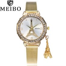 -Tower decorative pendant belt watch women's diamond-encrusted Eiffel pendant jewelry watch on JD