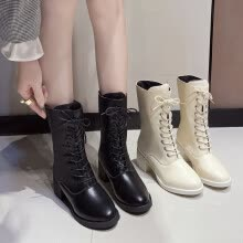 -Boots, children, short boots, women with English wind tie, heavy-heeled locomotive boots, Martin boots, thin boots and single boot on JD