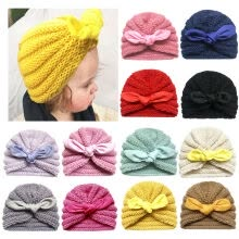 -Newborn Toddler Kids Baby Boys Girls Knit Wool Beanie Hat Winter Warm Cap on JD