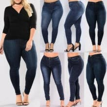 -Women's Plus Size Stretch Denim Skinny Jeans Leggings Pants High Waist Trousers on JD