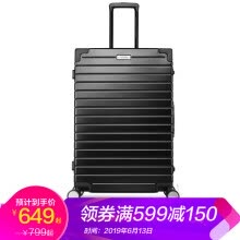 -US travel aluminum frame trolley case new men and women luggage 28 inch shipping box universal wheel retro ins tide password lock suitcase TI1 matte silver on JD