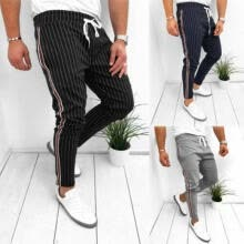 -Mens Slim Fit Tracksuit Sport Gym Skinny Jogging Joggers Sweat Pants Trousers on JD