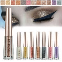-12 Colors Beauty Shiny Diamond Color Liquid Eye Shadow Shimmer Glitter Eyeshadow on JD
