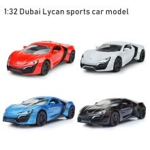 -4 Colors Dubai Lycan 1:32 Car Charger Diecast Metal Model Car Sound and Light Pull-back Vehicle Toy for Children and Kids Gift on JD