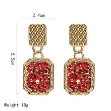 -European and American style Earrings for Woman 2019 Exaggeration Big Four Layers Ring Earrings Gold color Fashion Jewellery Gift on JD