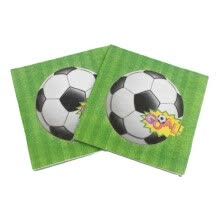 -20pcs/lot Football Napkins Kids Birthday Wedding Party Supplies Football Paper Napkins Happy Birthday Party Supplies 2018 on JD