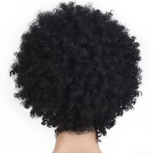 -〖Follure〗Black Synthetic Curly Wigs for Women Short Afro Wig African American Natural on JD