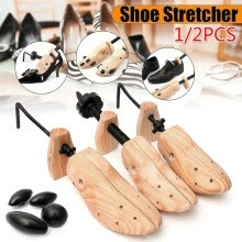 -New 2/1pcs Shoe Stretcher Women and Men's Shoe Widener - Wooden Shoes Shaper Adjustable on JD
