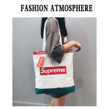 -Supreme off white outdoor athletic canvas sport bag fashion casual lightweight men women shoulder bag student school bag girl boy on JD
