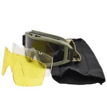 -Military Airsoft Tactical Goggles Shooting Glasses 3 Lens Motorcycle Windproof Game Goggles on JD