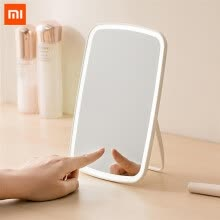 -Original xiaomi Mijia Intelligent portable makeup mirror desktop led light portable folding light mirror dormitory desktop on JD