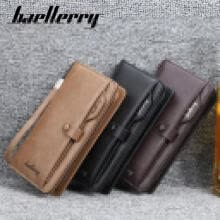 -Men Leather Wallet ID Credit Card Holder Clutch Bifold Pocket Zipper Coin Purse on JD