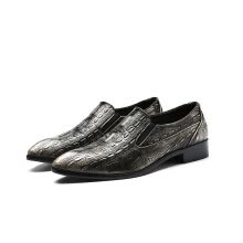 -British style crocodile pattern men's pointed casual shoes men on JD