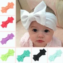 -Toddler Girls Kids Baby Big Bow Hairband Headband Stretch Turban Knot Head Wrap on JD