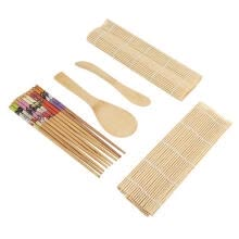 -Greensen 9Pcs/set Bamboo Sushi Making Kit Family Office Party Homemade Sushi Gadget For Food Lovers on JD