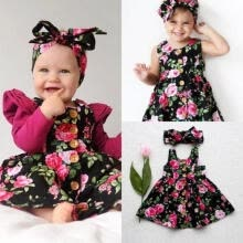 -New Toddler Kids Baby Girls Princess Floral Sundress Summer Dresses Clothes 6M-4T on JD