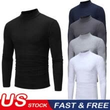 -Fashion Winter Men's Slim Fit Long Sleeve Slim T-shirts Tee Shirt Tops Pullover on JD