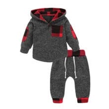 -Baby Boy Girl Infant Clothes Autumn Winter Hooded Tops+Pants 2PCS Set Outfits US on JD