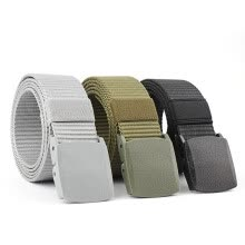 875061442-125CM Long Automatic Buckle Nylon Belt Male Army Tactical Belt Mens Military Waist Canvas Belts Cummerbunds High Quality Strap on JD