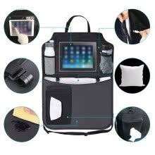 -〖Follure〗Car storage bag chair back car for ipad storage seat anti kick pad hanging bag on JD