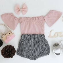 -Cute Newborn Baby Girl Summer Outfit Set Clothes Princess Dress+Pants Shorts on JD