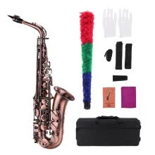 -Muslady High Grade Red Bronze Bent Eb Alto Saxophone E-flat Sax Carved Pattern Woodwind Instrument with Carry Case Gloves Cleaning on JD