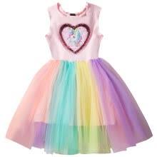 -Girls Princess Unicorn Dress Tulle Tutu Dress with Cotton Lining Cosplay Birthday Party Fancy up Dress on JD