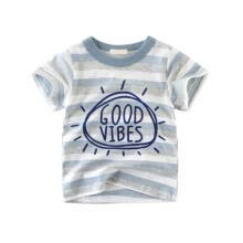 -Summer Baby Boys T-Shirt Short Sleeve T-Shirts Kids Stripes English Letters Tops Tees Casual Cotton Shirts on JD