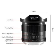-7artisans 12mm f/2.8 Ultra Wide Angle Prime Lens Manual Focus Large Aperture for Canon M1/ M2/ M3/ M5/ M6/ M10/ M100/ M50 EOS M-Mo on JD