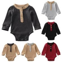 -AU Cotton Newborn Baby Boy Girls Infant Knitted Romper Jumpsuit Outfits Clothes on JD