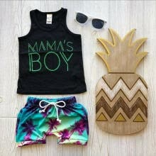 -Summer Newborn Toddler Baby Boy Clothes Sleeveless Tops T-Shirt Shorts Pants Outfits Set on JD