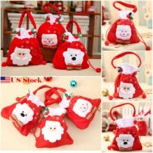 marketing-Franela Christmas Gift Handbag Xmas Santa Claus Snowman Candy Gifts Bag US Stock on JD