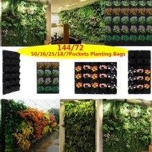 -Wall Hanging Planting Bags Green Grow Bag Planter Vertical Garden Vegetable on JD