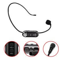 -〖Follure〗UHF Wireless Rechargeable Microphone Headset for Voice Amplifier External Speaker on JD