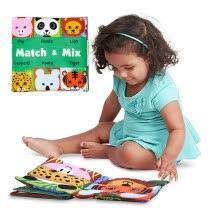 -Face Matching Baby Toy Cloth Development Books Learning & Education Cloth Books on JD