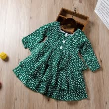 -1-6Y Baby Girls Polka Dot Princess Dress Toddler Party Pageant Long Sleeve Dresses Kids Infant Clothes on JD