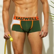 -Tailored Men's Fashion Brand Stripe Sexy Breathable Bulge Briefs Swimming Underwear on JD