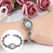 -Visland Vintage Women Rhinestone Eye Charm Round Dial Analog Quartz Bracelet Wrist Watch on JD