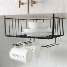 -Kitchen Storage Bin Under Shelf Wire Rack Cabinet Basket Organizer Holder Stand on JD