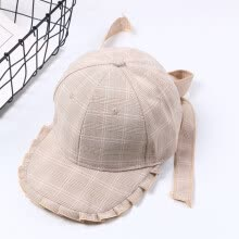 -Fashion bow knot sunshade hat men and women bright leisure plaid hair baseball cap duck tongue cap couple manufacturer wholesale on JD
