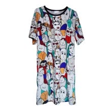 -2020 Fashion Vintage Women Summer Sexy Casual Loose Boho Dress Evening Party Night Club Beach Dresses Short Sundress M-XXL New on JD