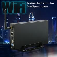 hdd-enclosure-Wireless Hard Drive Box 3.5 Inch USB3.0 Private Cloud NAS Smart Storage Smart Router on JD