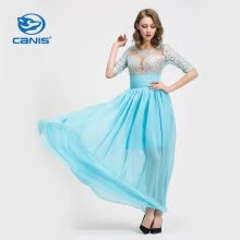 -CANIS@Women's Sexy/Lace/Maxi ½ Length Sleeve Maxi Dress (Chiffon/Lace) on JD