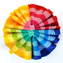 8750203-34 X76cm hand towel strip colored bamboo cotton on JD