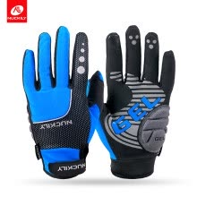 87505-NUCKILY Cycling Gloves Full Finger Waterproof Breathable Polyester Fabric Motorcycle Glove for Adults on JD