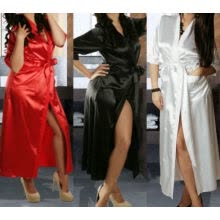 -New Sexy Long SILK Kimono Dressing Gown Bath Robe Babydoll Lingerie Nightdress on JD