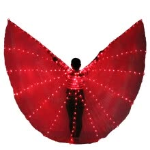 -Belly Dance LED Isis Wings Stage Performance Prop Wings NO Stick Dance Accessory on JD