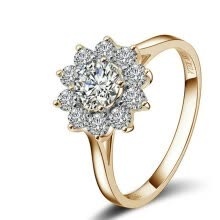 875062457-Yoursfs® 18K Rose Gold Plated Simulated Crystal Snow Ring Use Austria Crystal Fashion Jewelry on JD