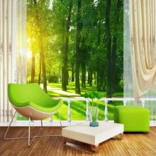 -Custom 3d mural wallpaper Forest Park 3D Landscape Background Wall living room wallpaper mural home decoration coffee house on JD